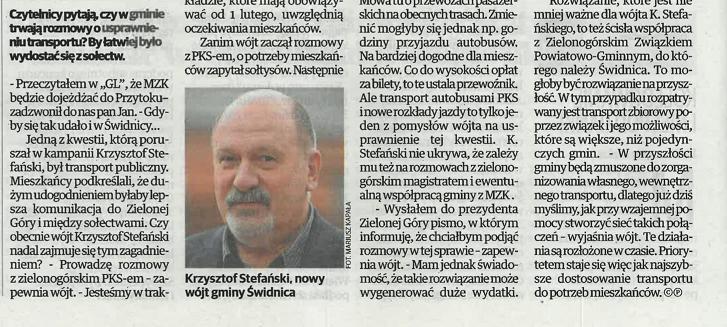 Ilustracja do informacji: Artykuł na temat transportu w gminie Świdnica