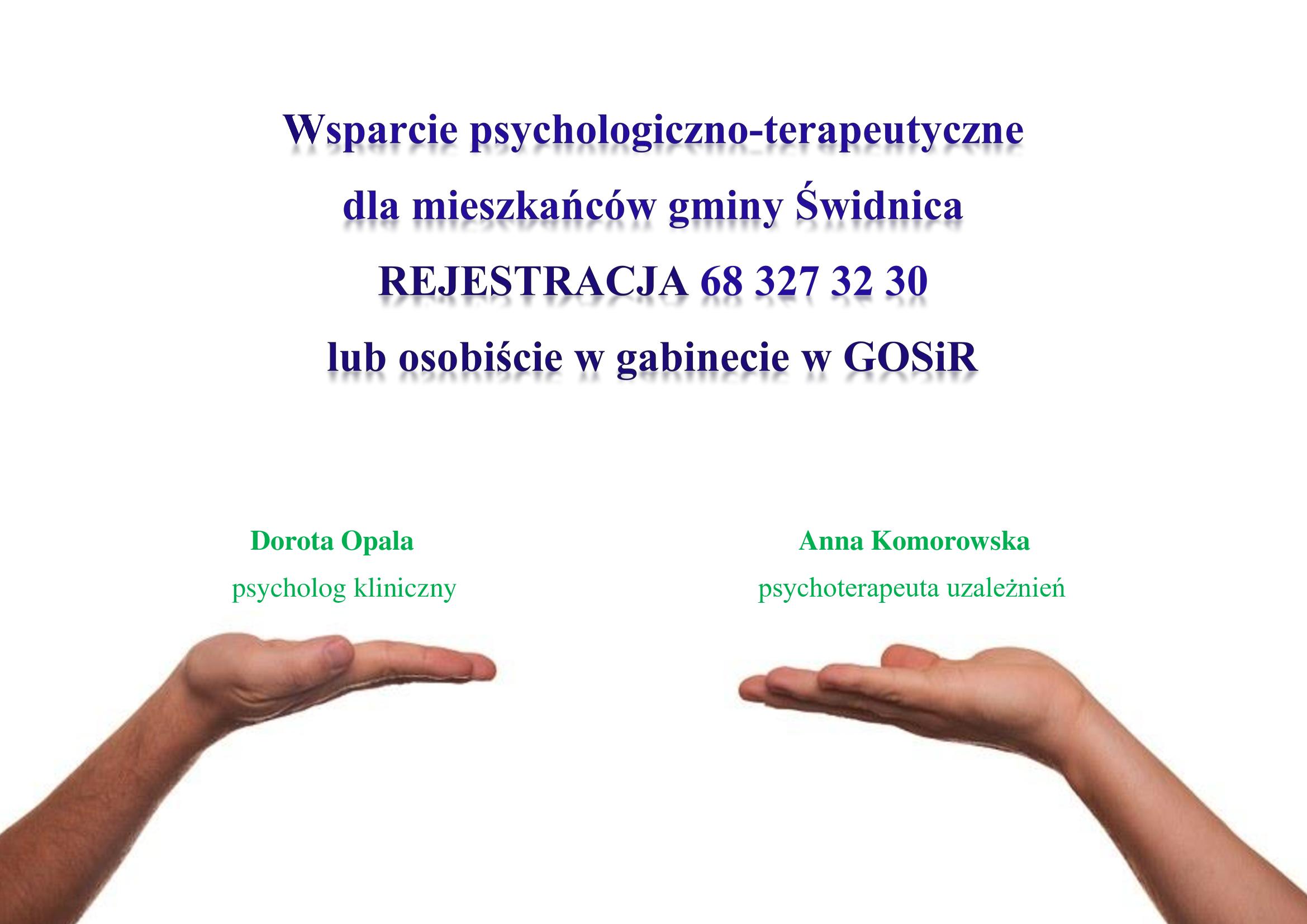 Ilustracja do informacji: Wsparcie psychologiczno-terapeutyczne dla mieszkańców gminy Świdnica