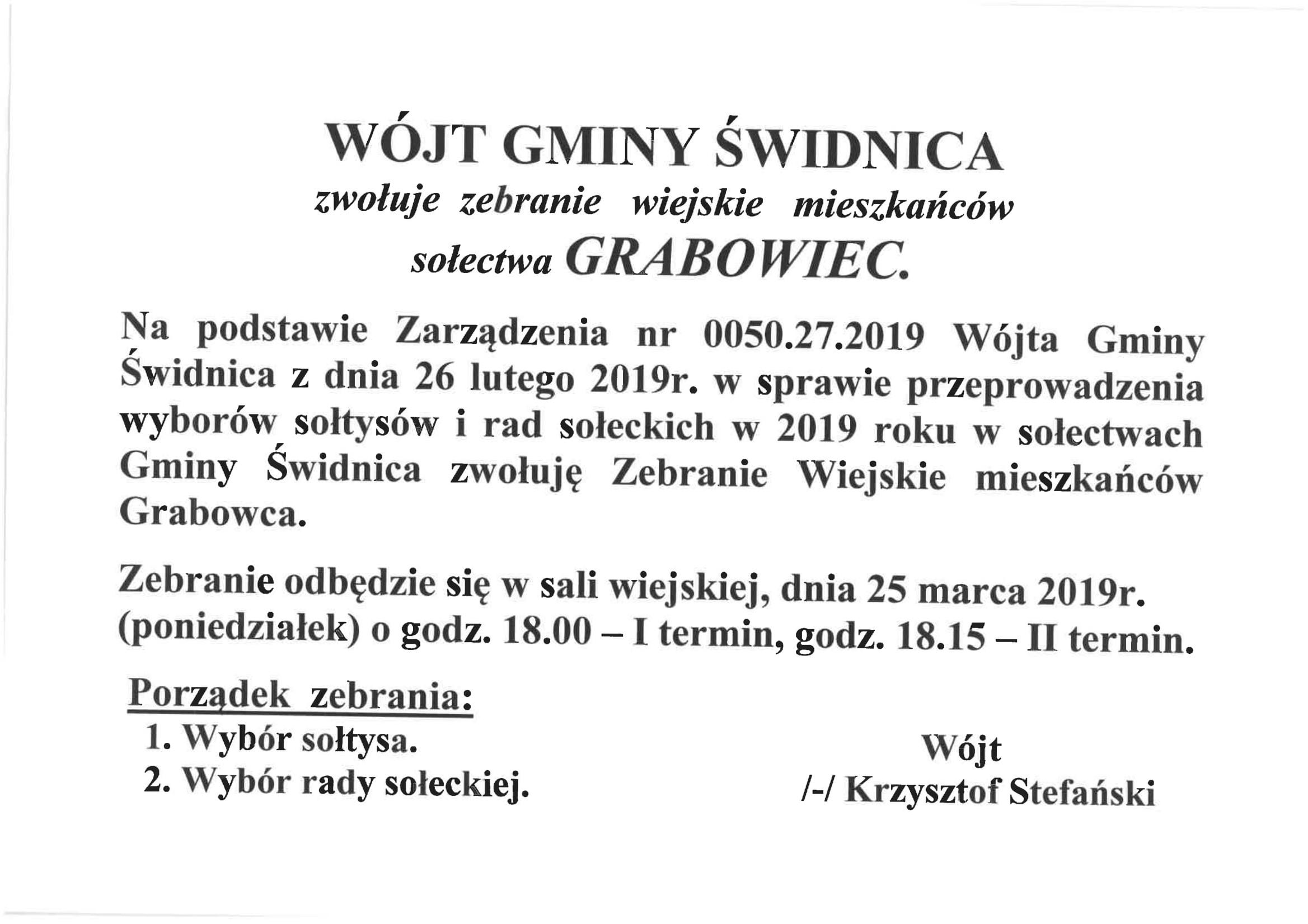 Ilustracja do informacji: Wybory w Grabowcu