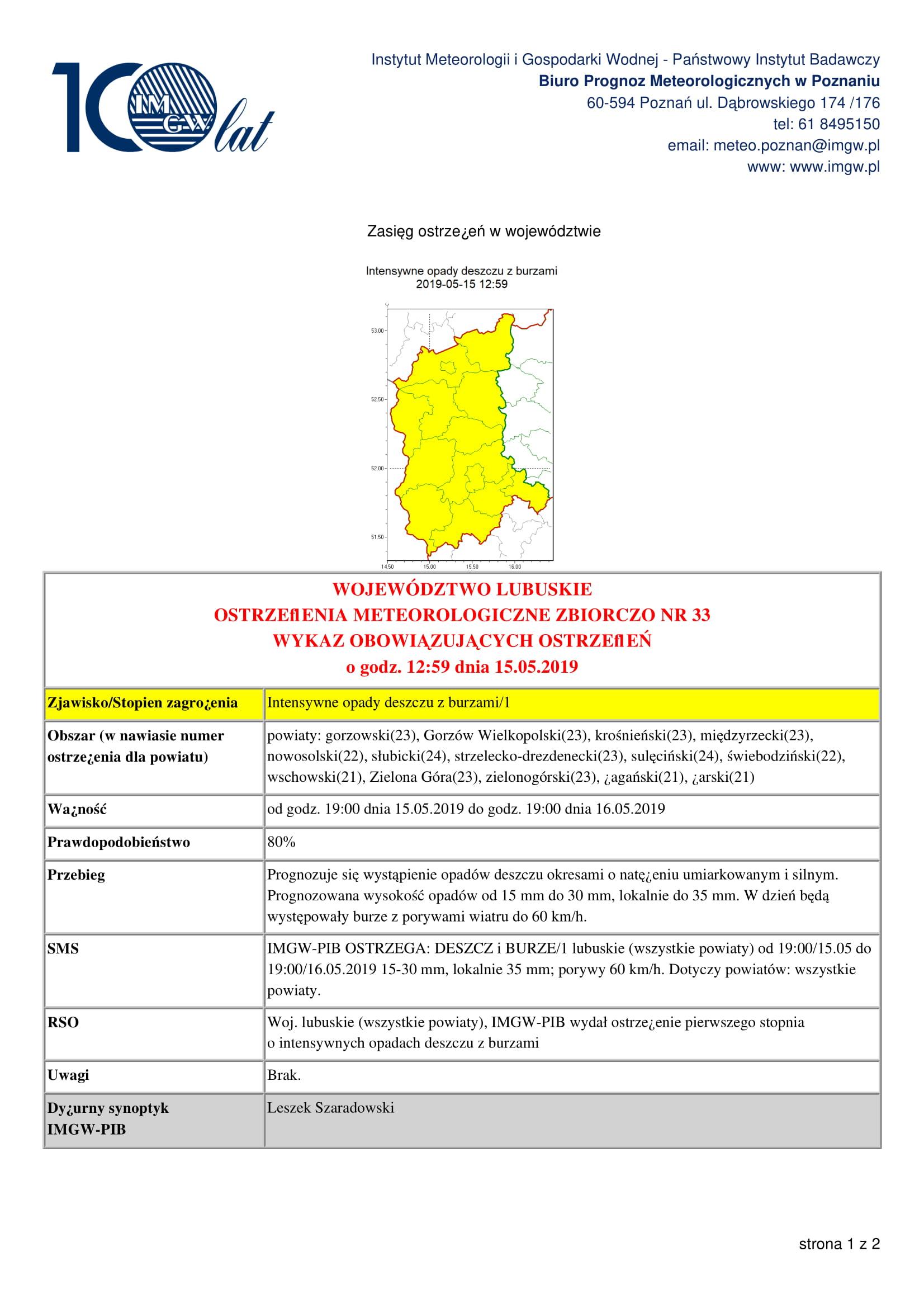 Ilustracja do informacji: Ostrzeżenie meteorologiczne ‼️