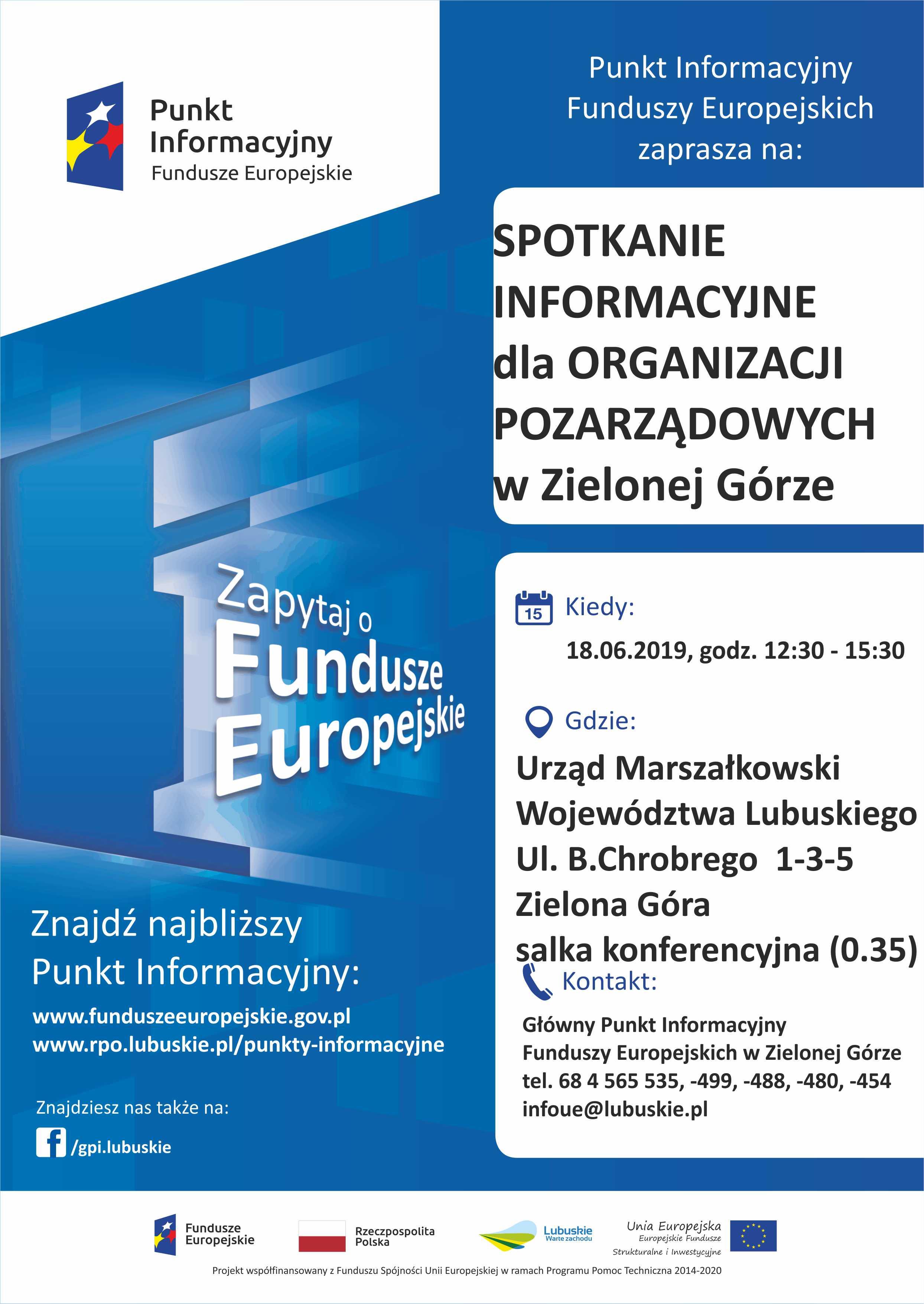 Ilustracja do informacji: Fundusze Europejskie - spotkanie informacyjne