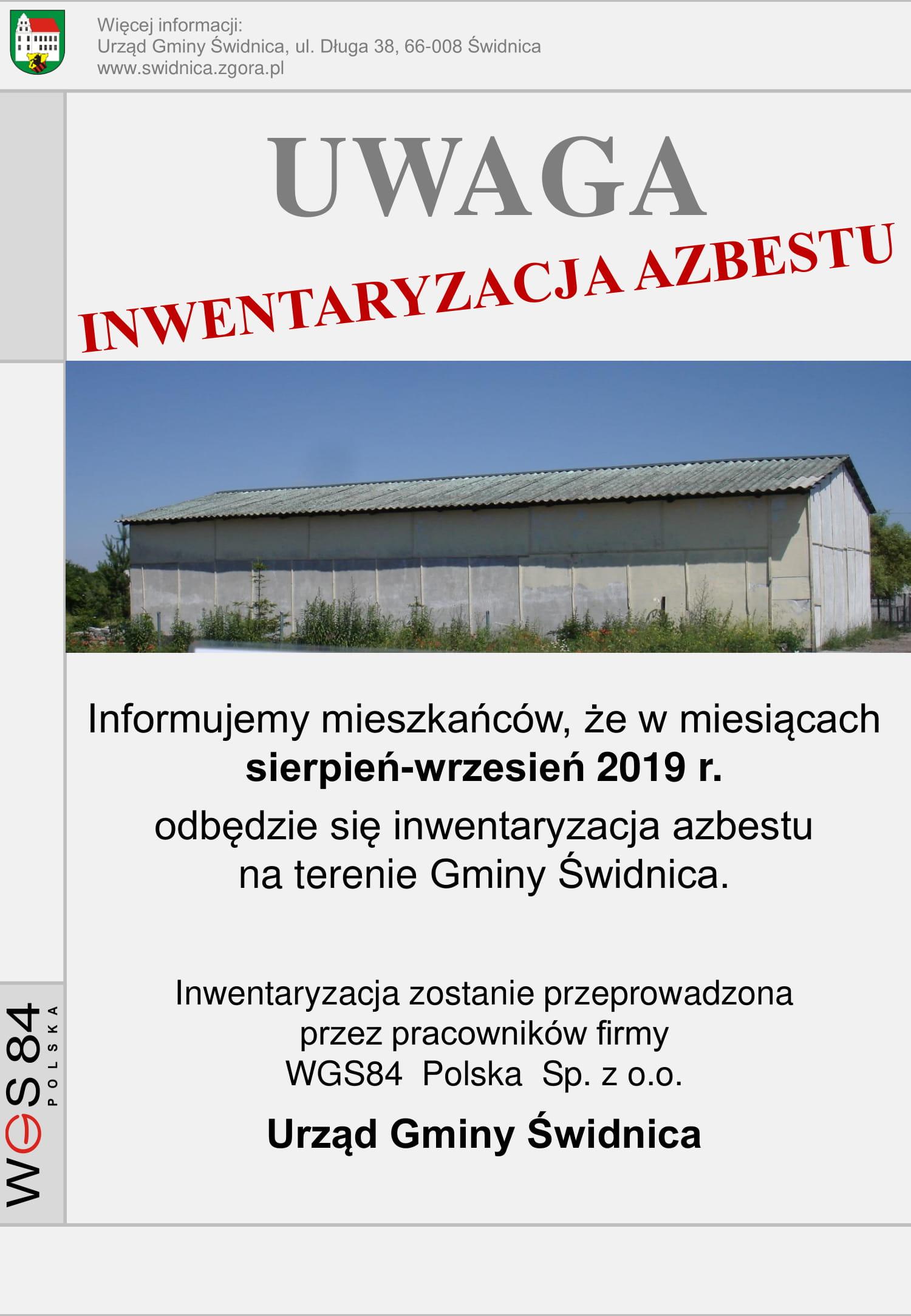 Ilustracja do informacji: Inwentaryzacja azbestu