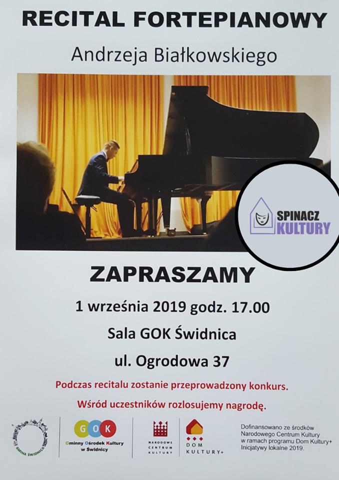 Ilustracja do informacji: Recital Andrzeja Białkowskiego