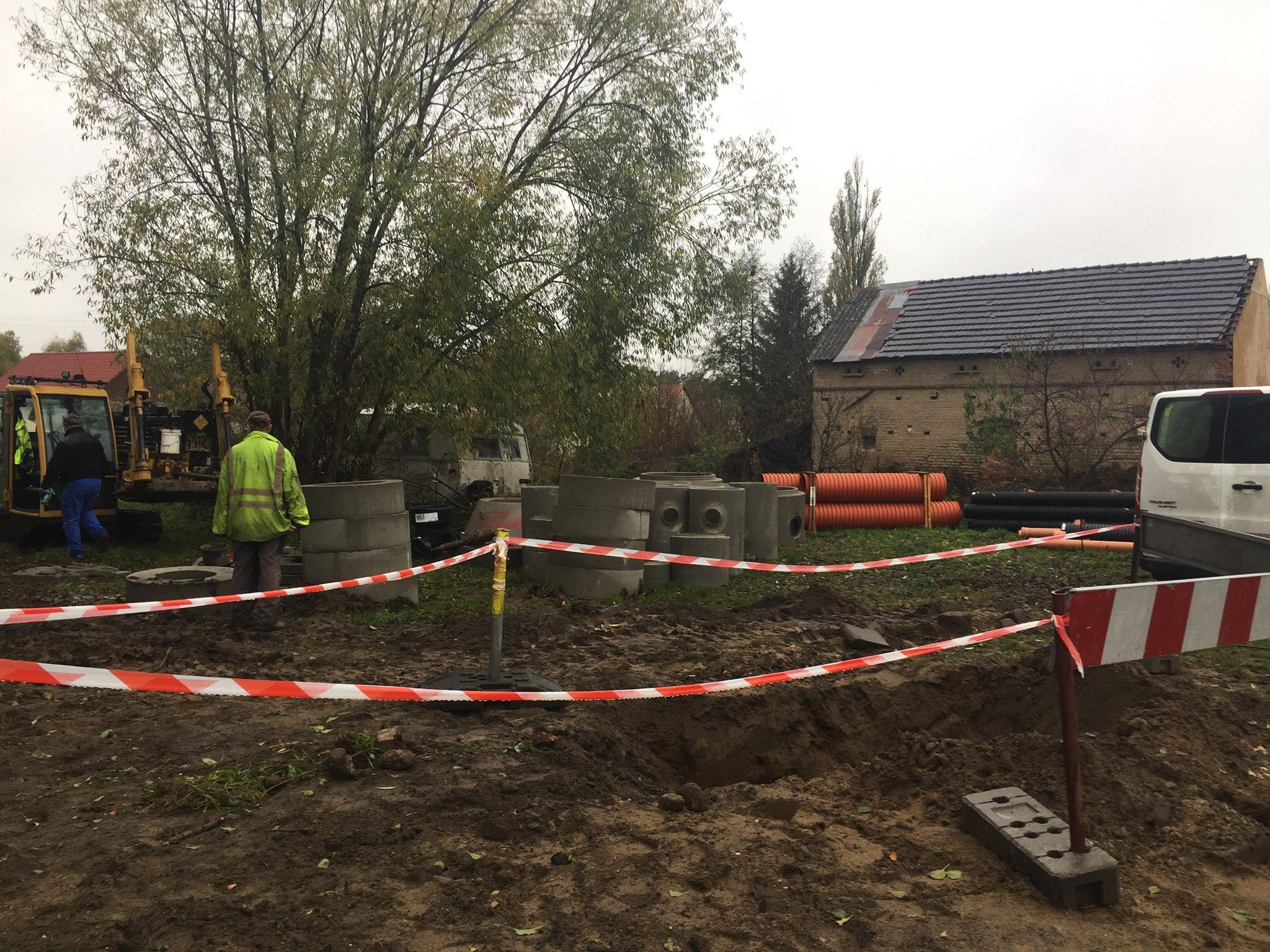 Ilustracja do informacji: Kanalizacja deszczowa w Słonem