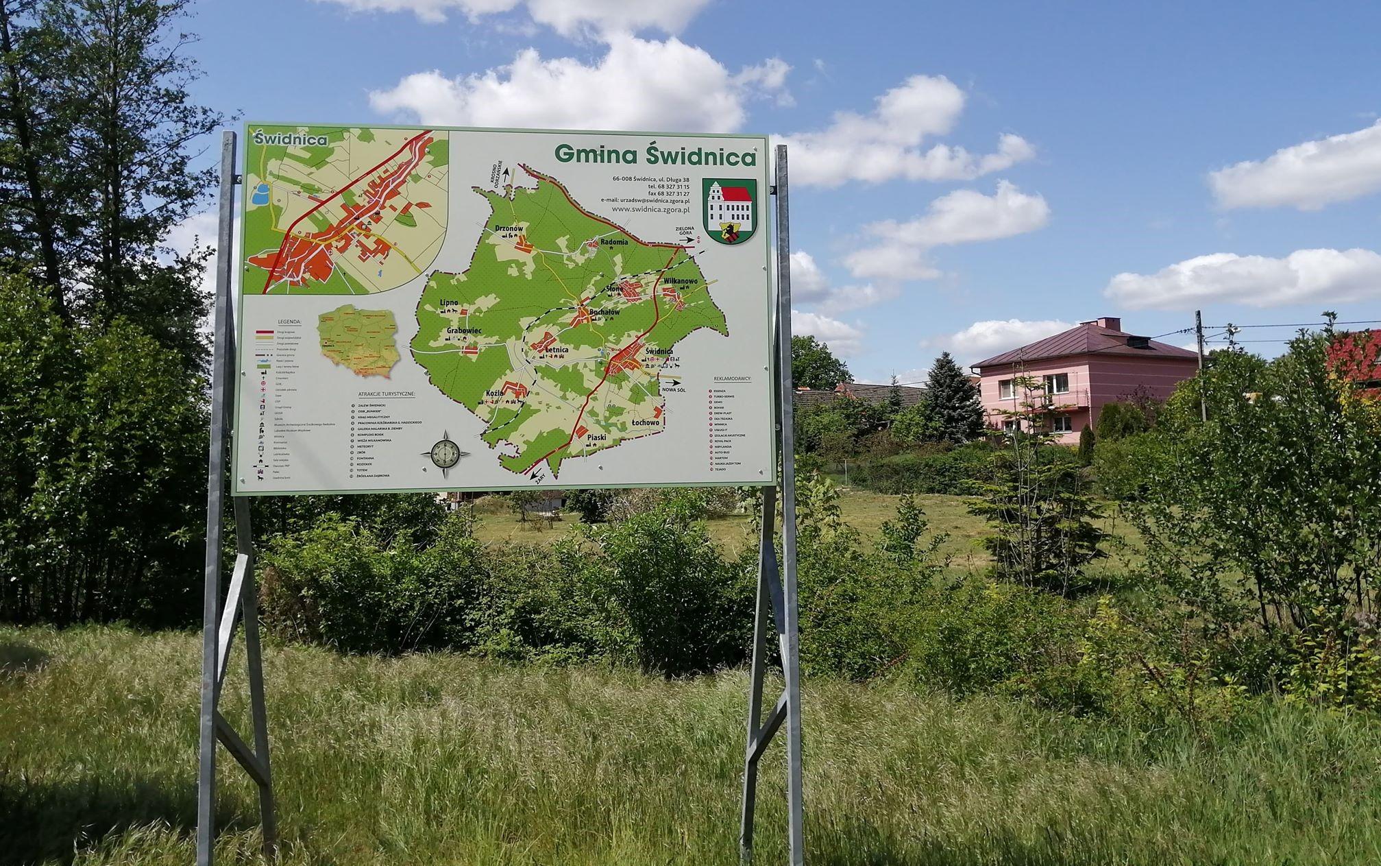 Ilustracja do informacji: Mapa w Świdnicy