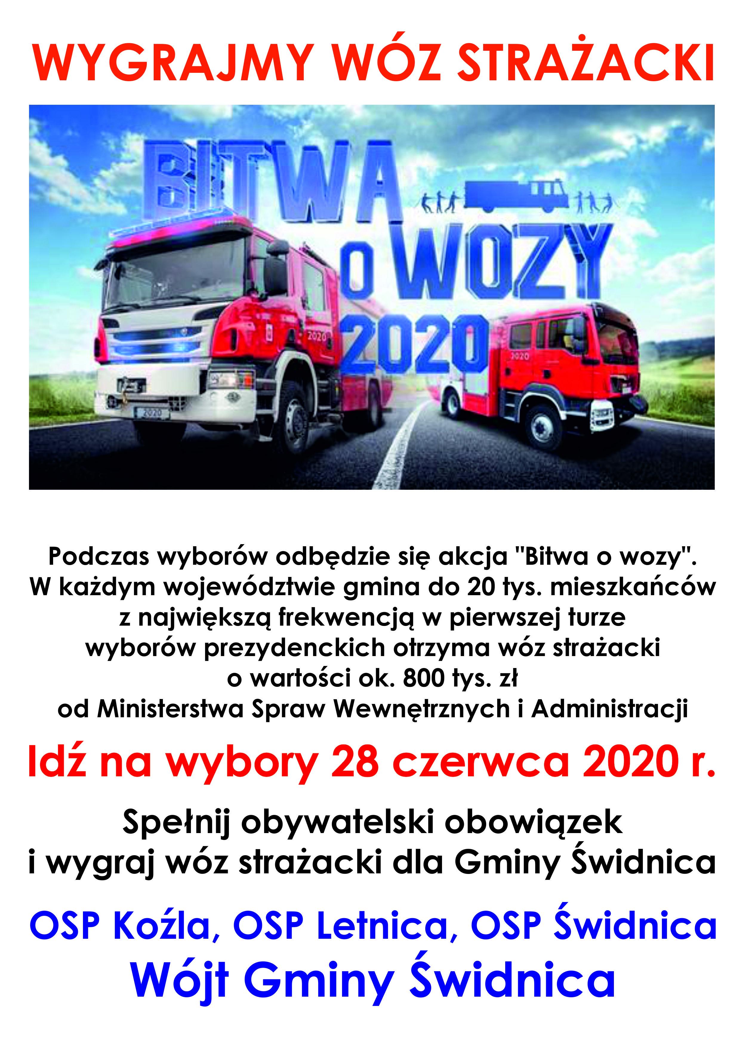 Ilustracja do informacji: Idź na wybory - wygraj wóz