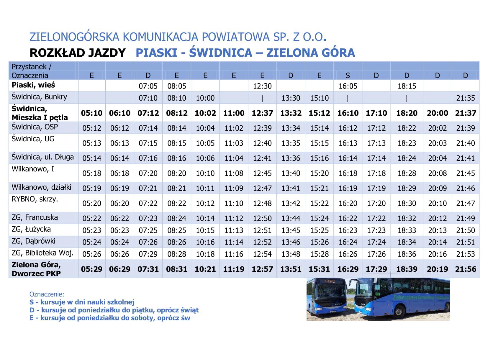 Ilustracja do informacji: Nowe połączenie autobusowe