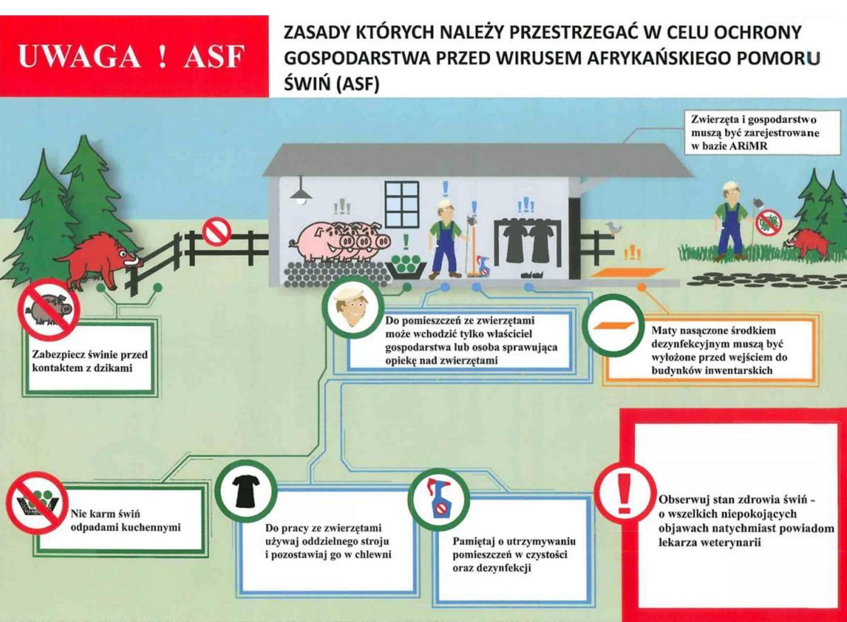 Ilustracja do informacji: Ochrona gospodarstwa przed ASF