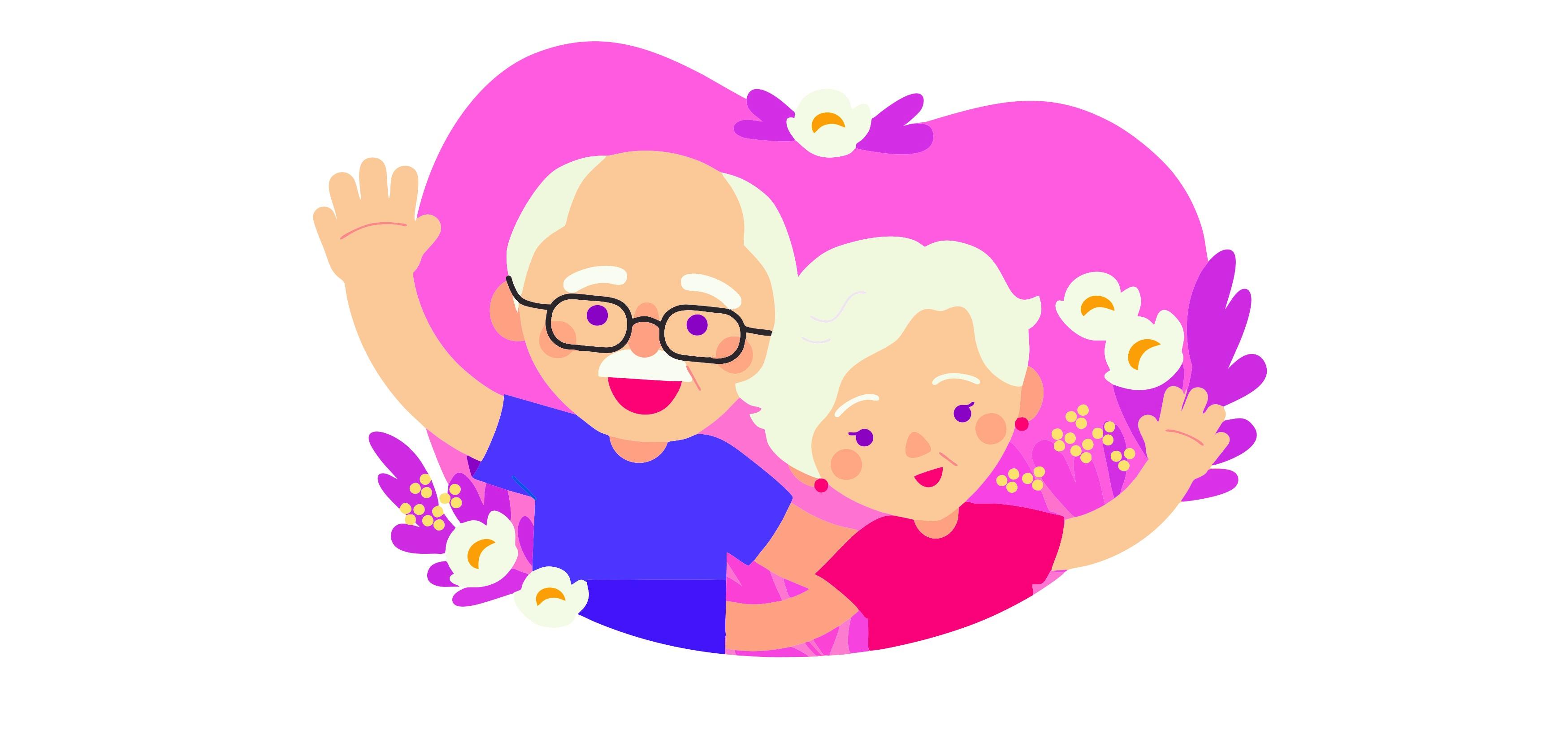 Ilustracja do informacji: Życzenia dla babć i dziadków