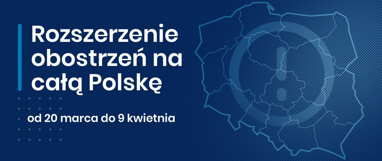Ilustracja do informacji: Od 20 marca w całej Polsce obowiązują rozszerzone zasady bezpieczeństwa