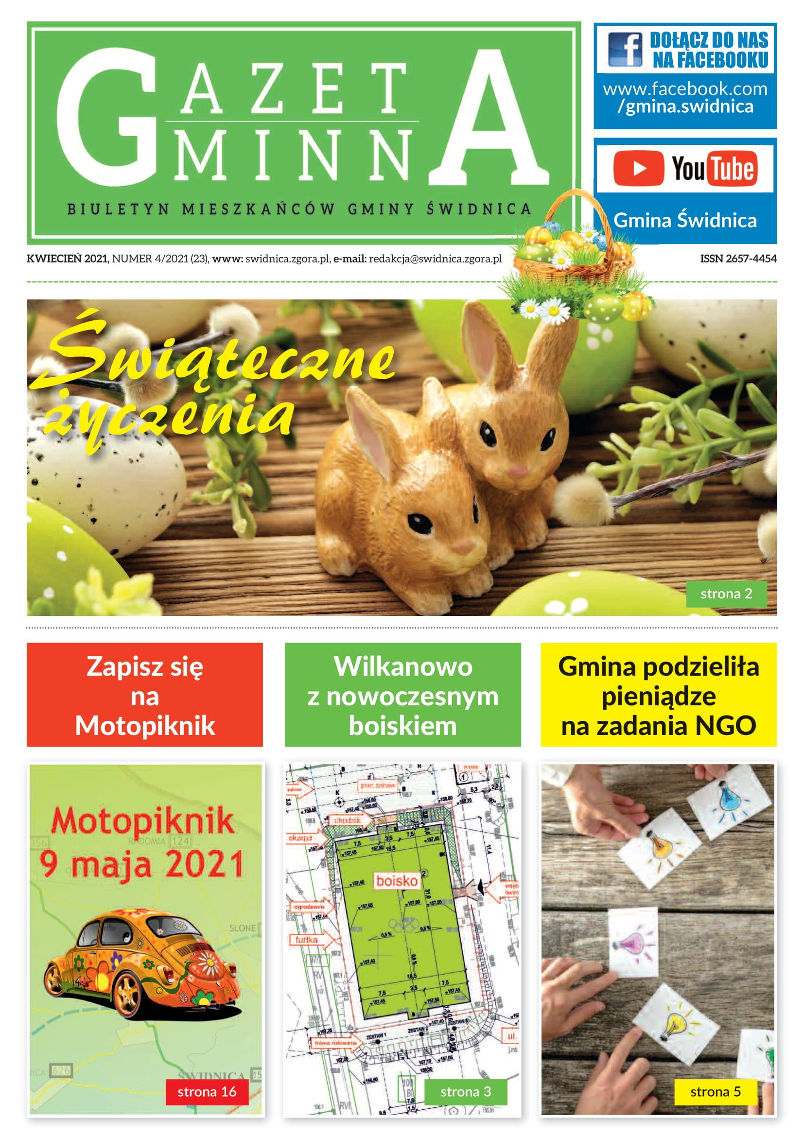 Kwietniowe wydanie Gazety Gminnej