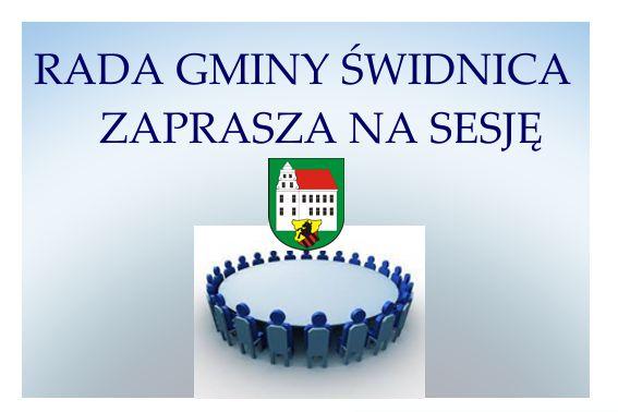 Ilustracja do informacji: Zaproszenie na LIX sesję Rady Gminy Świdnica