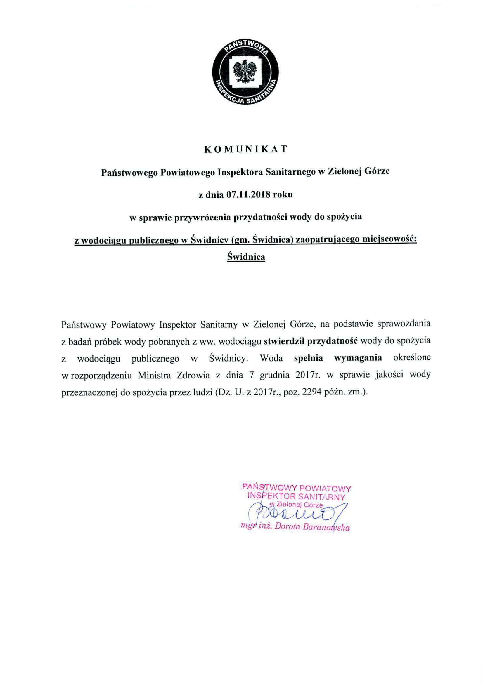 Ilustracja do informacji: Komunikat dot. wody w Słonem