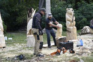Miniatura zdjęcia: Rzeźbili w drewnie i mydle